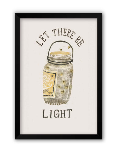 Framed Posters | Let There Be Light Laminated Framed Poster Online India