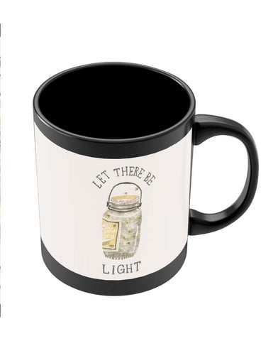 Coffee Mugs Online | Let There Be Light Black Coffee Mug Online India