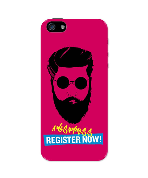 iPhone 5 / 5S Cases & Covers | Awesomeness | Register Now ! Funny Illustration iPhone 5 / 5S Case Online India