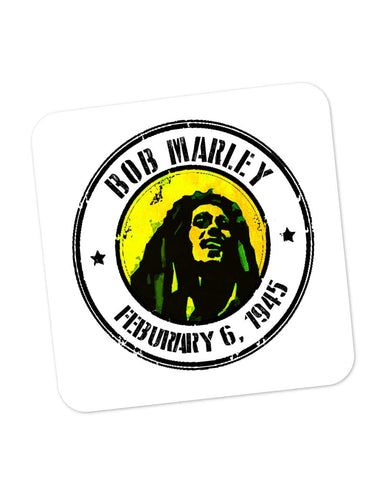 Buy Coasters Online | Bob Marley Artful Stamp Coaster Online India | PosterGuy.in