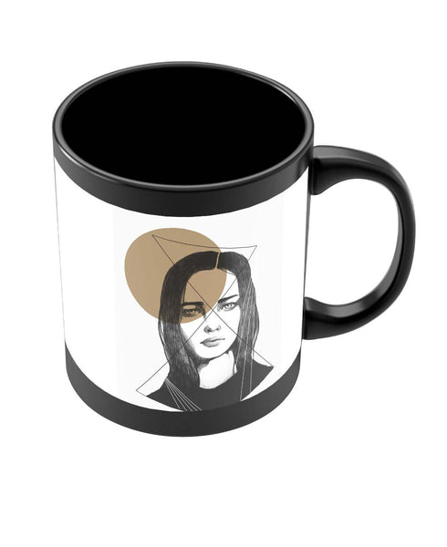 Coffee Mugs Online | The Beauty of a Soul Illustration Black Coffee Mug Online India