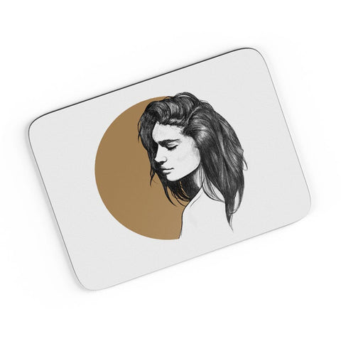 Girl Illustration A4 Mousepad Online India