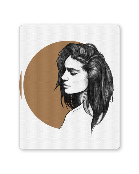 Buy Mousepads Online India | Girl Illustration Mouse Pad Online India