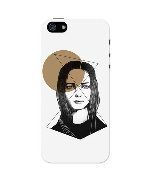 iPhone 5 / 5S Cases & Covers | Girl Illustration iPhone 5 / 5S Case Online India
