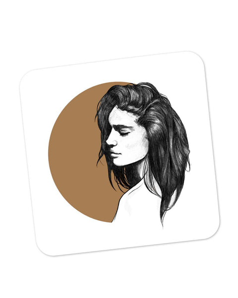 Buy Coasters Online | Girl Illustration Coaster Online India | PosterGuy.in