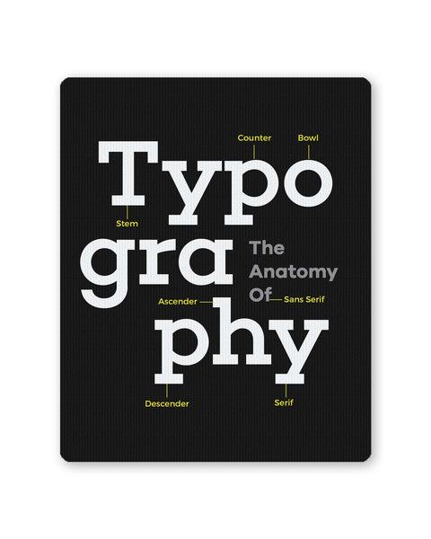 Buy Mousepads Online India | Typography Info graphic Illustration Mouse Pad Online India