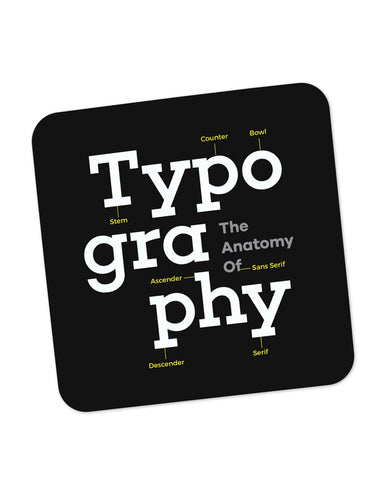 Buy Coasters Online | Typography Info graphic Illustration Coaster Online India | PosterGuy.in