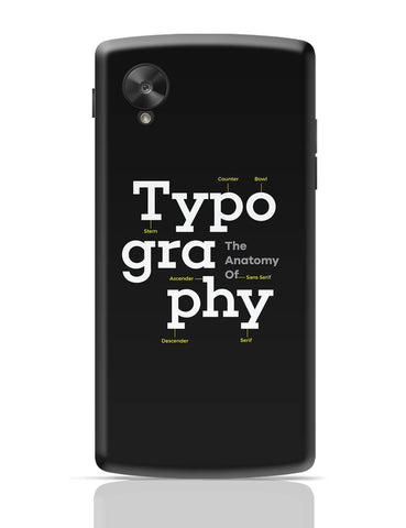 Google Nexus 5 Covers | Typography Info graphic Illustration Google Nexus 5 Cover Online India