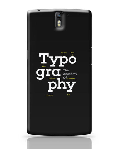 OnePlus One Covers | Typography Info graphic Illustration OnePlus One Cover Online India