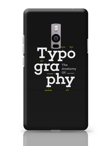 OnePlus Two Covers | Typography Info graphic Illustration OnePlus Two Cover Online India
