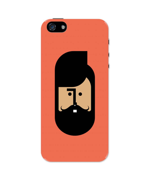 iPhone 5 / 5S Cases & Covers | The Quirky Beard Minimalist iPhone 5 / 5S Case Online India