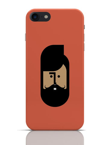 The Quirky Beard Minimalist iPhone 7 Covers Cases Online India