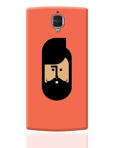The Quirky Beard Minimalist OnePlus 3 Cover Online India