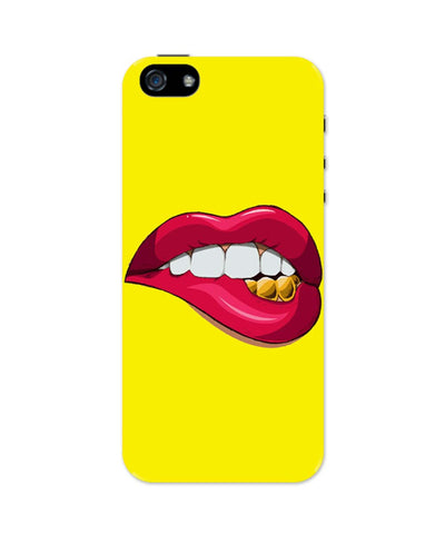 iPhone 5 / 5S Cases & Covers | The Seductive Lips Quirky iPhone 5 / 5S Case Online India