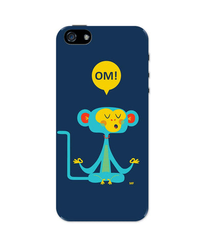 iPhone 5 / 5S Cases & Covers | Om | the Meditating Monkey Illustration iPhone 5 / 5S Case Online India