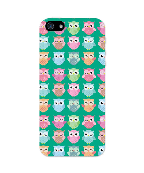 iPhone 5 / 5S Cases & Covers | Quirky Owl Patterns iPhone 5 / 5S Case Online India