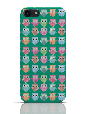 Quirky Owl Patterns iPhone 7 Covers Cases Online India