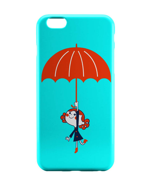 iPhone 6 Case & iPhone 6S Case | Umbrella Girl Happiness Minimalist Illustration iPhone 6 | iPhone 6S Case Online India | PosterGuy