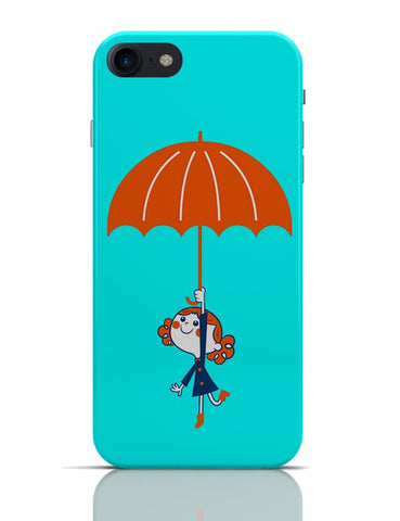 Umbrella Girl Happiness Minimalist Illustration iPhone 7 Covers Cases Online India