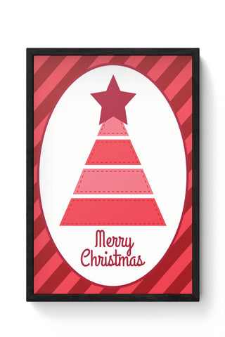 Framed Posters Online India | Merry Christmas Illustration Laminated Framed Poster Online India