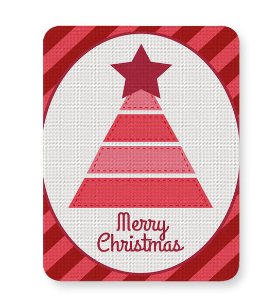 Buy Mousepads Online India | Merry Christmas Illustration Mouse Pad Online India