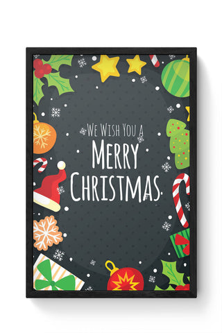 Framed Posters Online India | We Wish You a Merry Christmas Laminated Framed Poster Online India