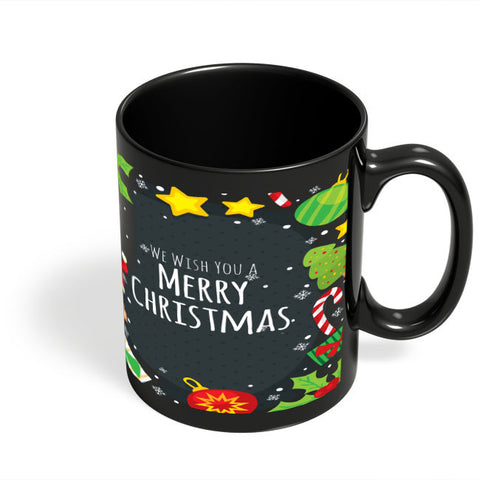 Coffee Mugs Online | We Wish You a Merry Christmas Black Coffee Mug Online India