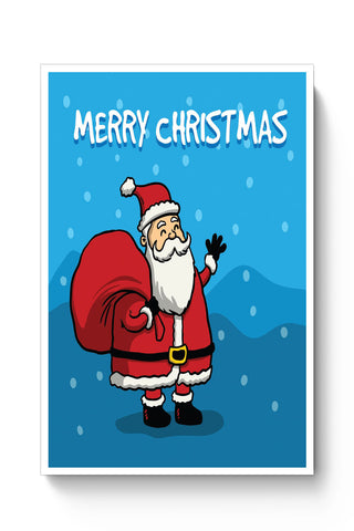 Posters Online | Happy Santa Merry Christmas Illustration Poster Online India | Designed by: Palna Patel