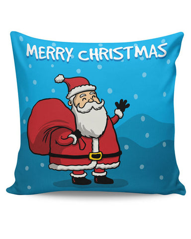 PosterGuy | Happy Santa Merry Christmas Illustration Cushion Cover Online India