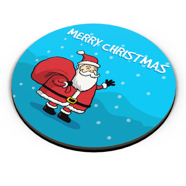 PosterGuy | Happy Santa Merry Christmas Illustration Fridge Magnet Online India by Palna Patel
