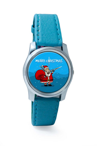 Women Wrist Watch India | Happy Santa Merry Christmas Illustration Wrist Watch Online India