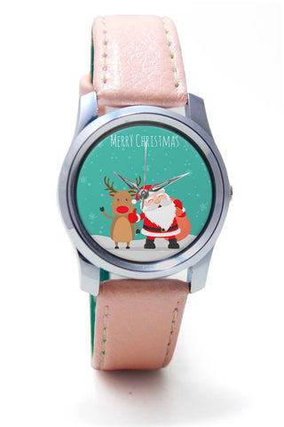 Women Wrist Watch India | Merry Christmas Illustration Wrist Watch Online India