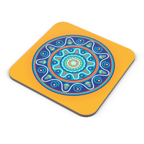 Buy Coasters Online | Circular Geometric Pattern Coaster Online India | PosterGuy.in