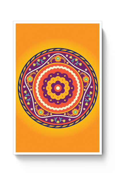 Posters Online | Circular Geometric Pattern Poster Online India | Designed by: Palna Patel