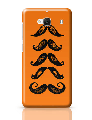 Xiaomi Redmi 2 / Redmi 2 Prime Cover| Quirky Moustaches Redmi 2 / Redmi 2 Prime Cover Online India