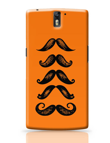 OnePlus One Covers | Quirky Moustaches OnePlus One Cover Online India