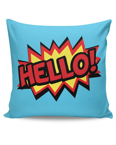 PosterGuy | Comic Hello Cushion Cover Online India