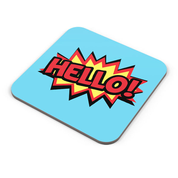 Buy Coasters Online | Comic Hello Coaster Online India | PosterGuy.in