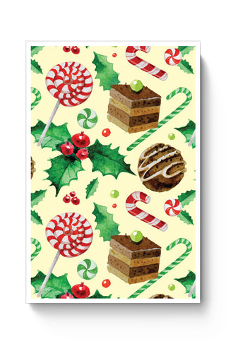 Posters Online | Christmas Pattern Poster Online India | Designed by: Palna Patel