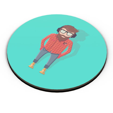 PosterGuy | Hipster Guy Fridge Magnet Online India by Palna Patel