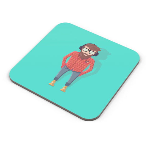 Buy Coasters Online | Hipster Guy Coaster Online India | PosterGuy.in
