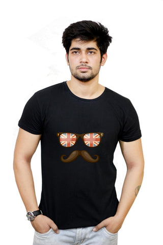 Buy Hipster Moustache T-Shirts Online India | Hipster Moustache T-Shirt | PosterGuy.in