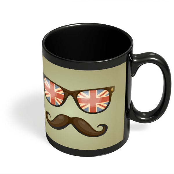 Coffee Mugs Online | Hipster Moustache Black Coffee Mug Online India