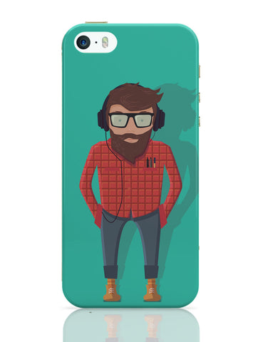 iPhone 5 / 5S Cases & Covers | Hipster Guy iPhone 5 / 5S Case Online India