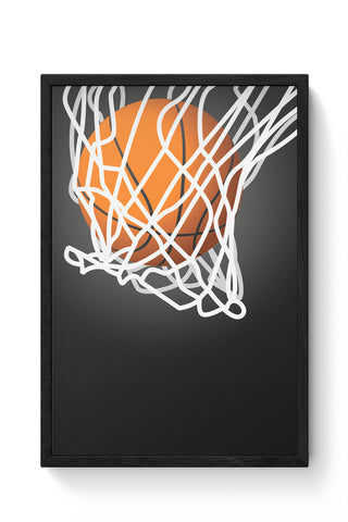 Framed Posters Online India | Basketball Laminated Framed Poster Online India
