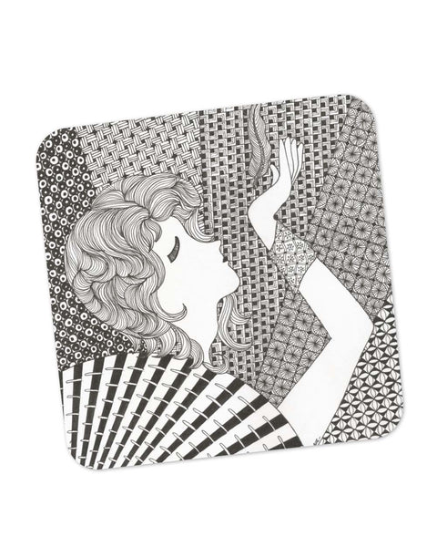 Buy Coasters Online | Cool Breeze Art Illustration Coaster Online India | PosterGuy.in