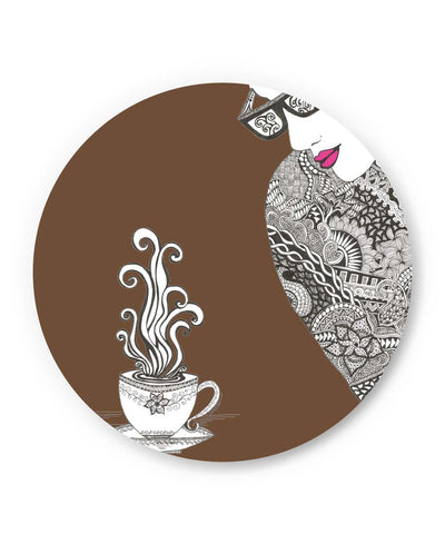 PosterGuy | Coffee & Spice Art Illustration Fridge Magnet Online India by Surabhi Kuthiala