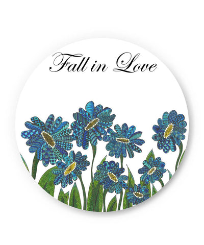 PosterGuy | Fall In Love Art Illustration Fridge Magnet Online India by Surabhi Kuthiala
