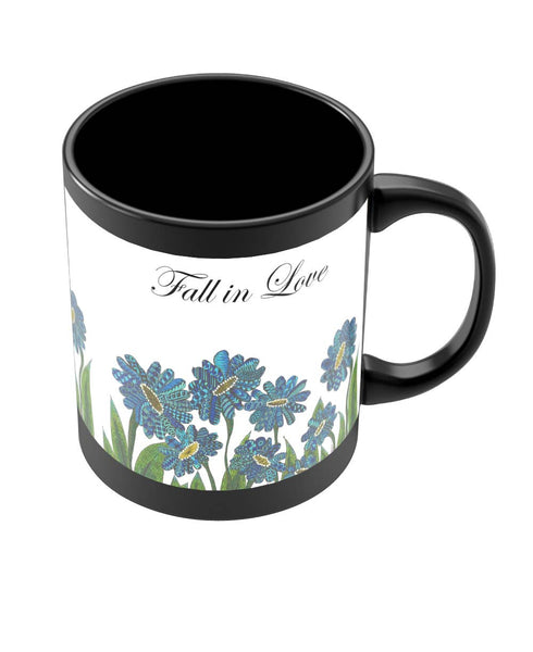 Coffee Mugs Online | Fall In Love Art Illustration Black Coffee Mug Online India