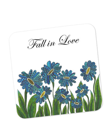 Buy Coasters Online | Fall In Love Art Illustration Coaster Online India | PosterGuy.in